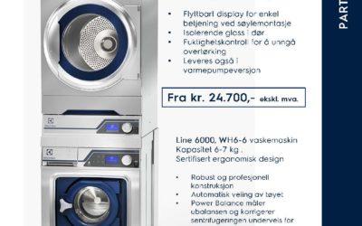 Vask av arbeidstøy? Vi er Electrolux partner, og kan levere alt av utstyr for dette.