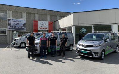 Nye firmabiler levert av Hovli Auto AS
