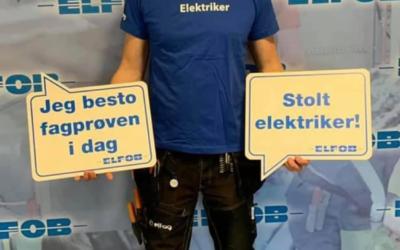 Gratuler til Eirik med fagbrev!!